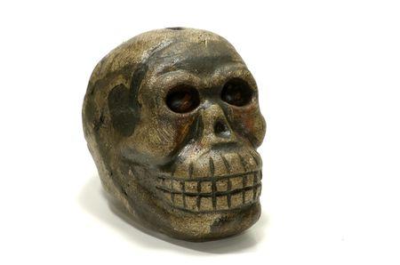 Photo of a Monkey Skull Carving Stock Photo - 564893