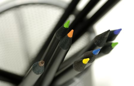 Photo of Colored Pencils in a Pencil Holder photo