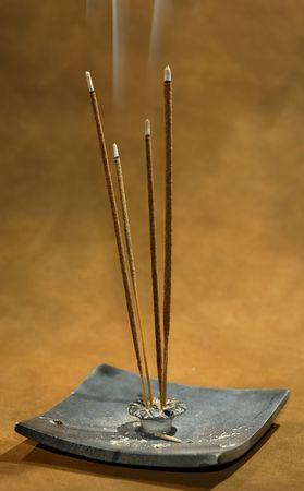 Photo of Smoking Incense Stockfoto