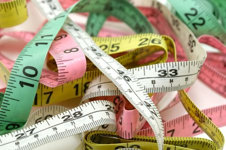 Photo of Various Colored Tape Measures Stock Photo - 564414