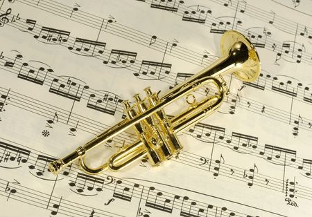 sheetmusic: Photo of a Brass Trumpet