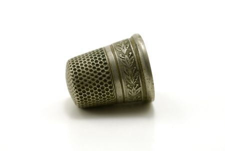 Macro Photo of a Vintage Thimble