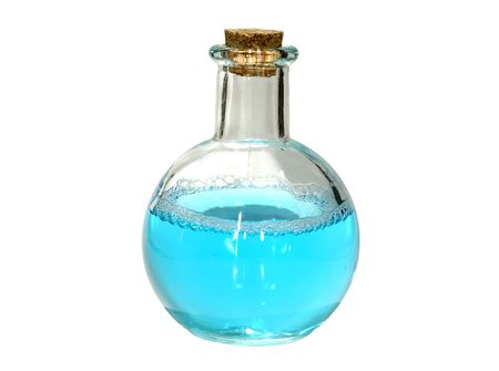 Photo of a Isolated Flask  Bottle