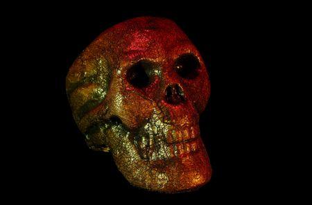 Foto van een oneven zoekt Skull Stockfoto