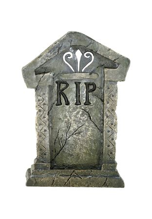 Foto de una aislados Tombstone Foto de archivo - 564712
