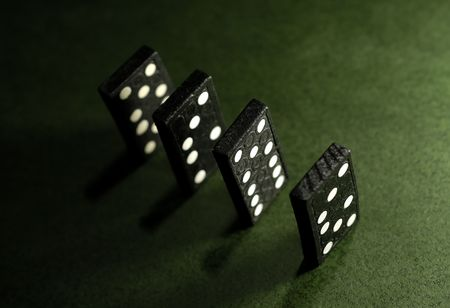 Photo of Dominoes Standing Up Stock Photo
