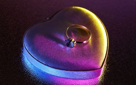 Photo of a Diamond Ring With Gel Lighting