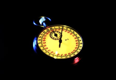 Photo of a Stopwatch With Color and Blur