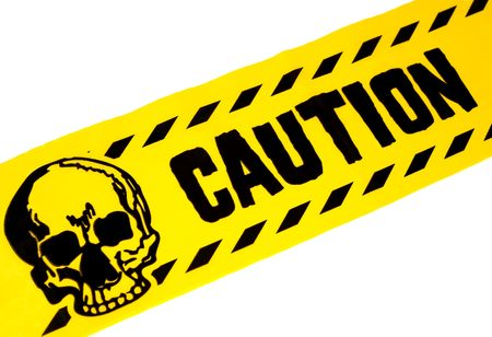Photo of Yellow and Black Caution Tape Stock Photo - 564601