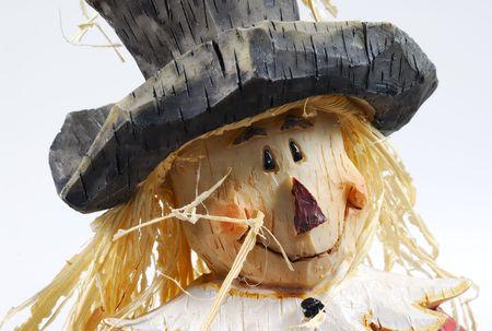 Foto van een houten Scarecrow Halloween Decoratie