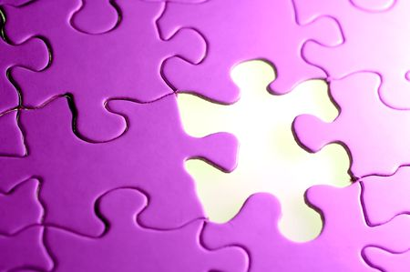 Photo of a Puzzle With a Missing Piece Stockfoto