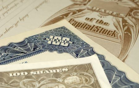 Photo of Various Stock Certificates - Financial Concept