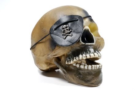 Photo of a Skull With a Pirate Patch