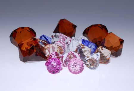 Photo of Various Diamonds, Gems and Crystals of Different COlors Stock Photo - 580115