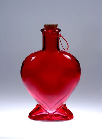 Photo of a Heart Shaped Glass Bottle
