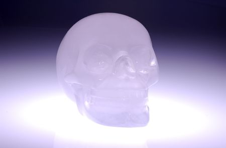Photo of a Glass  Crystal Skull - Mythical Skull