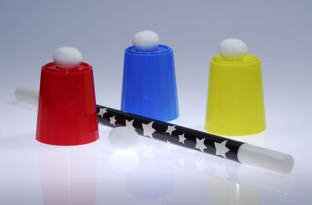 Photo of a Magic Wand and Magic Cup and Balls