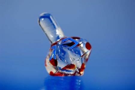 Photo of a Glass Dreidel - Chanukah Related Object