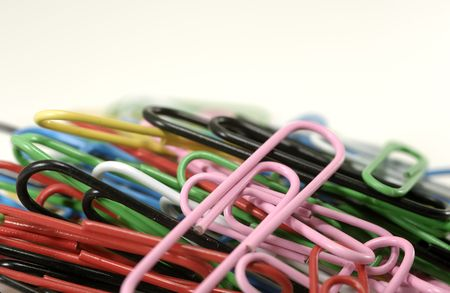Photo of Paperclips - Office Related Objects Stock Photo