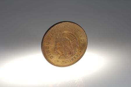 Photo of a Mexican Coin - Mexican Currency