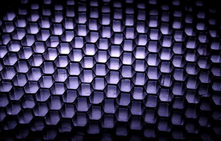 Photo of a Grid  Honeycomb Background - Light From Beneath Material Reklamní fotografie