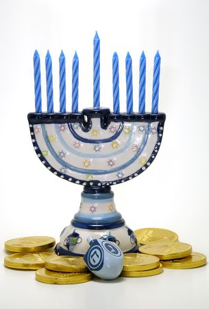 Photo of Various Chanukah Related Objects - Holiday Related Stock Photo - 655377
