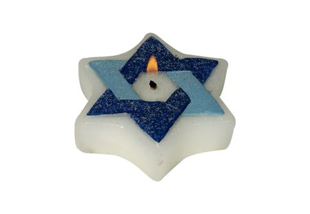 Photo of a Chanukah Candle - Holiday Related Stock Photo