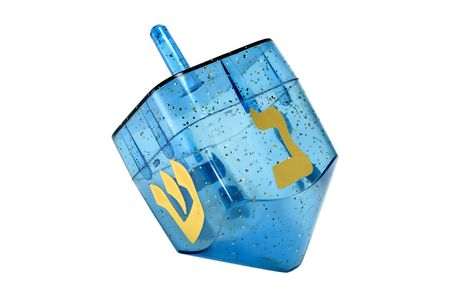dreidel: Photo of A Blue Chaunkah Dreidel - Isolated