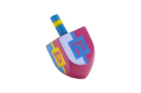 dreidel: Photo of A Pink and Blue Chaunkah Dreidel - Isolated Stock Photo