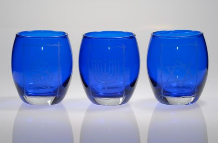 Photo of Glass Chanukah Candle Holders - Holiday Related