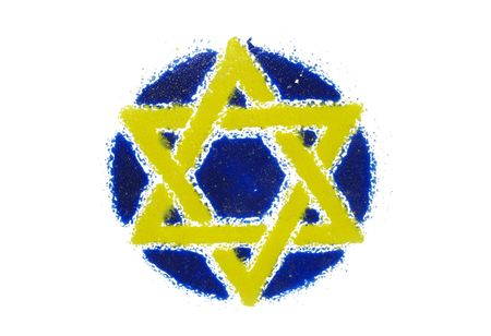 Abstract Star of David Design - Jewish  Religion Stock Photo