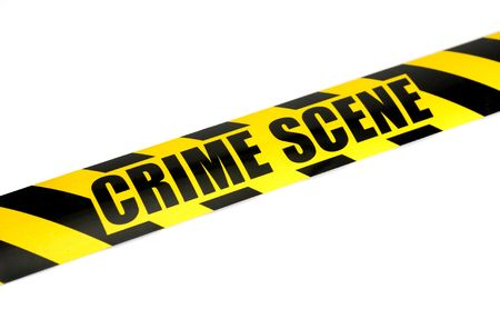 scene of a crime: Photo of Crime Scene Tape - Law Related - Background Stock Photo