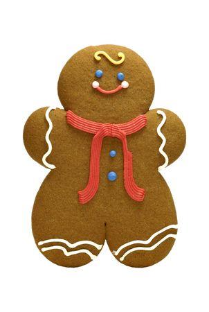 Aislado Gingerbread Cookie - relacionados con el objeto de vacaciones  Foto de archivo - 694629