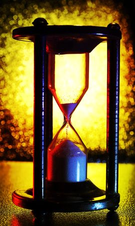 Abstract photo of an Hourglass - Time Concept