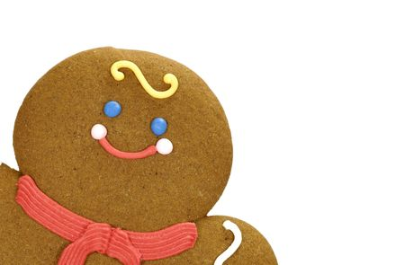 Photo of a Gingerbread Cookie - Background Stock Photo - 805620