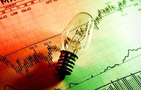 makelaardij: Foto van een lamp en Stock Chart - Investeringen Ideeën