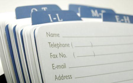 directorio telefonico: Foto de un Rolodex - Oficina relacionados