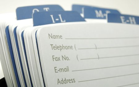 contacting: Photo of a Rolodex - Office Related