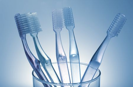 Foto de Toothbrushes - la higiene bucal y dental relacionados  Foto de archivo - 805537