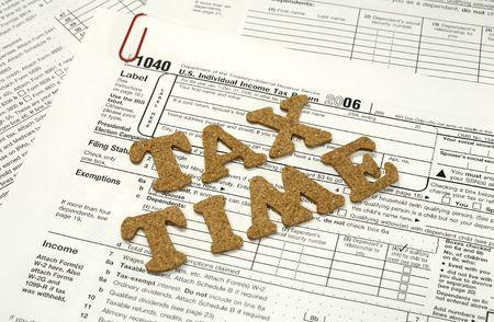 Foto de los impuestos relacionados con las formas - fiscal Foto de archivo - 829875