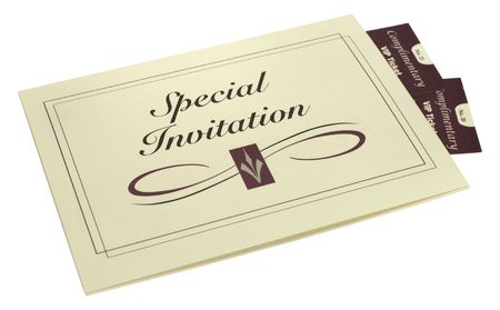 Photo of an Invitation and Tickets - Event Related