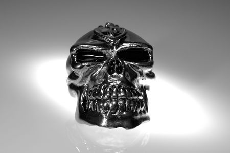 Photo of a Chrome  Silver SKull - Witchcraft  Demonology