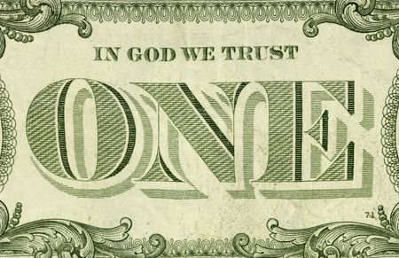 Photo of a One Dollar Bill - Money  Background Related