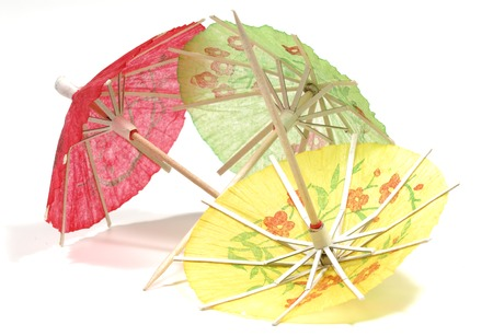 Photo of Paper Cocktail Umbrellas - Beverage Related Items Stock Photo