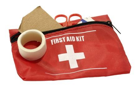 Foto van een First Aid Kit - Geïsoleerde - Health Related Stockfoto - 1703139