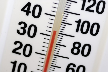 Photo of a Thermometer  Temperature Gauge 版權商用圖片
