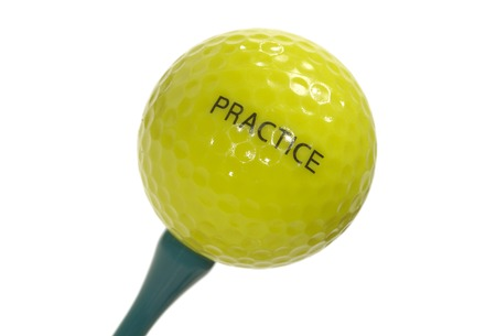 Isolated Golf Ball on a Tee - Sport Related Object
