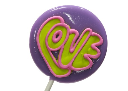 lolli: Photo of an Isolated Homemade Lollipop - Love