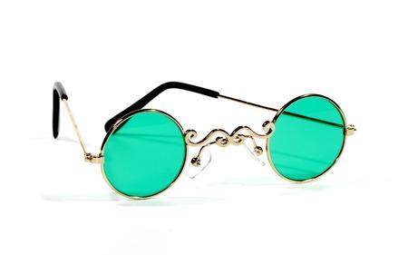 bifocals: Photo of Gold Rimmed Eyeglasses - Bifocals