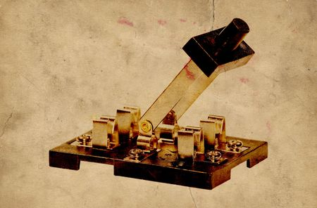 electric current: Photo of a Vintage Electrical Switch - Electricity Related Stock Photo